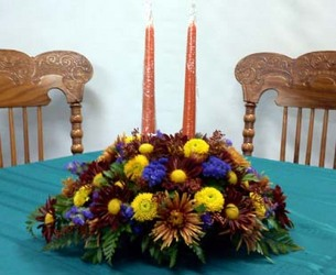 Thanksgiving Centerpiece from Kircher's Flowers in Defiance and Paulding, OH