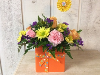 Bright Birthday from Kircher's Flowers in Defiance and Paulding, OH