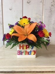 One Vivid Birthday from Kircher's Flowers in Defiance and Paulding, OH