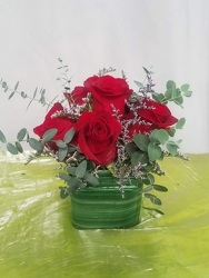 Deluxe Rose Cube from Kircher's Flowers in Defiance and Paulding, OH
