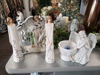 Angel Statues from Kircher's Flowers in Defiance and Paulding, OH