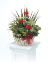 Basket planter with flowers from Kircher's Flowers in Defiance and Paulding, OH