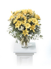 Yellow Lily and Daisy Vased Arrangement from Kircher's Flowers in Defiance and Paulding, OH