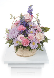 Pastel Basket Arrangement from Kircher's Flowers in Defiance and Paulding, OH
