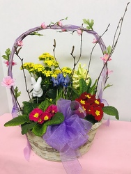 Spring Garden Basket from Kircher's Flowers in Defiance and Paulding, OH