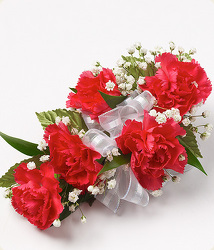 Mini Carnation Wrist Corsage (choose color) from Kircher's Flowers in Defiance and Paulding, OH