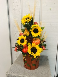 Pot Of Sunflowers  from Kircher's Flowers in Defiance and Paulding, OH