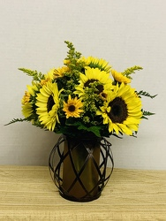 Sunflower Smiles from Kircher's Flowers in Defiance and Paulding, OH