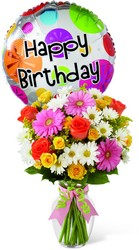 The FTD Birthday Cheer Bouquet from Kircher's Flowers in Defiance and Paulding, OH