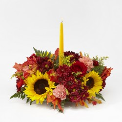 Giving Thanks Candle Centerpiece from Kircher's Flowers in Defiance and Paulding, OH